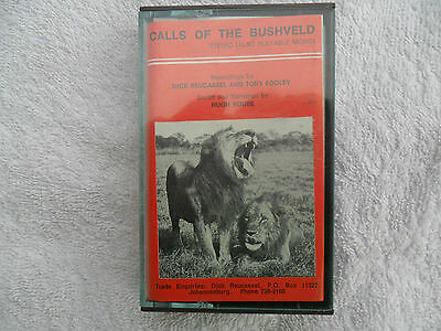 EXTREMELY RARE : Calls of the Bushveld RARE CASSETTE TAPE SOUTH AFRICA Animals