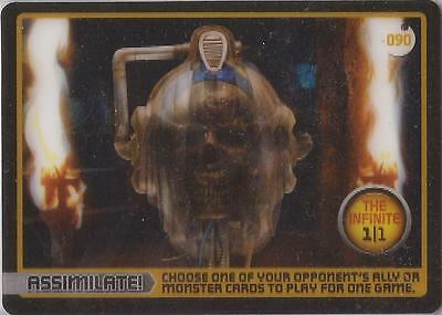 Doctor Who Monster Invasion - Ultra Rare 1/1 Cyberman Infinite Card #90