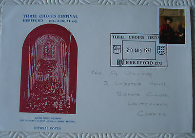 Three Choirs Festival Hereford Official Cover (1973)