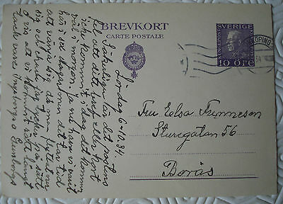1934 Sweden postcard with pre-printed stamp
