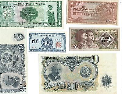 Worldwide Banknotes X 6