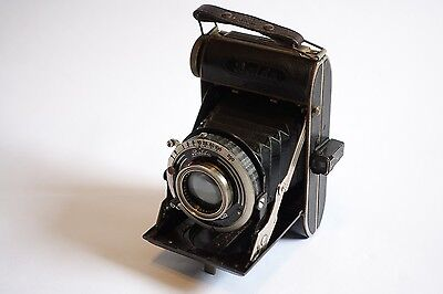 Balda Baldax Folding camera & 75mm F2.9 1:2.9/7.5cm Vidanar Lens, takes 120 film