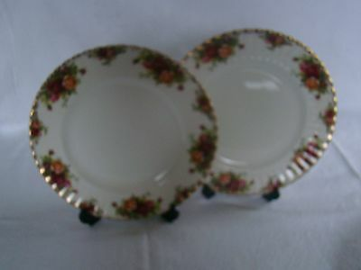 Royal Albert Old Country Roses  large dinner plates x2