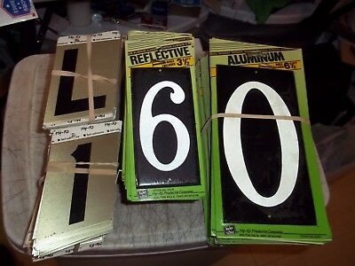 """265 Pieces House Numbers & Letters 3 1/2"""" Self Stick Adhesive Aluminum Hy Ko **"""