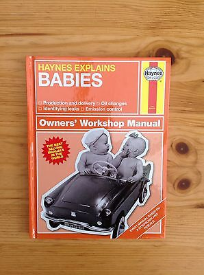 Haynes Explains Babies Book - Adult Humour Spoof - Great little Gift