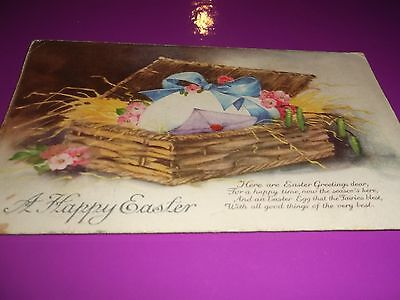 Vintage Postcard~Happy Easter Greeting~Sent To Liverpool~