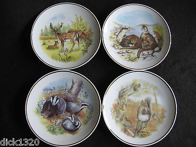 """SET of FOUR 6"""" COLLECTOR'S PLAQUES 'WILDLIFE of BRITAIN' by Susan Beresford EX"""