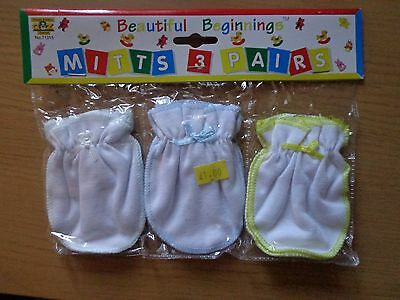 3 packs of baby mitts , 3 pairs per pack , all new L@@K