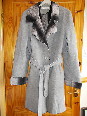 Ladies Elizabeth Emanuel Grey Car Coat Chest 40 ""