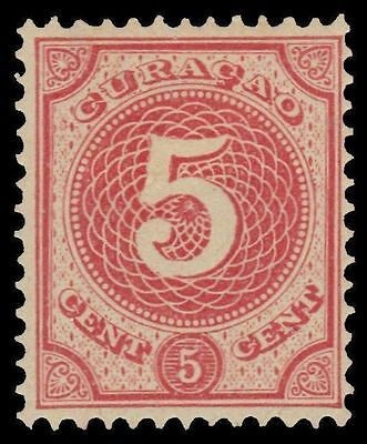 NETHERLANDS ANTILLES 17 (Mi23) - Numeral of Value Definitive (pf86598) MH $21