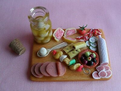 Dolls House Handmade Cold Meat Buffet Board