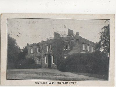 Chaigeley Manor Red Cross Hospital Clitheroe 1918 WW1 Postcard