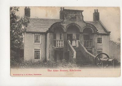 Ribchester Alms Houses 1904 Postcard Lancashire AE Shaw