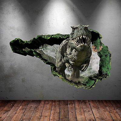 3D Dinosaur T-Rex Wall Art Sticker Bedroom Decal Mural Transfer Graphic WSD76
