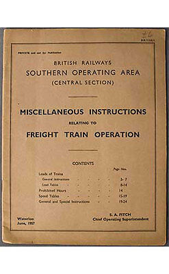 BR(S) 1957 Publication Misc Inst Relating Freight Train