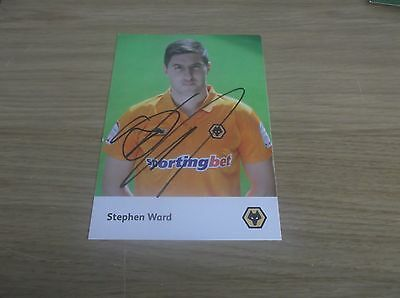 Wolverhampton Wanderers fc Stephen Ward signed 6x4 official club shop postcard