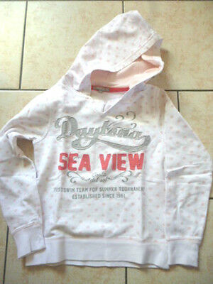 SWEAT FILLE  blanc avec impressions Taille 9  ans TBE