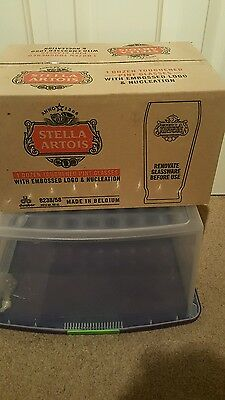 Box of 12 stella glasses new. Not fosters San Miguel Carlsberg stella Guinness