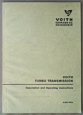 Voith Turbo Transmission - Description & Operating Instructions - Class 14 D95xx