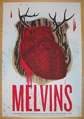 2004 The Melvins - Philly Silkscreen Concert Poster s/n by Heads of State