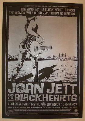 2006 Joan Jett & The Blackhearts - Silkscreen Concert Poster S/N by Stainboy