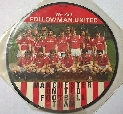 """MANCHESTER UNITED F.C. - We all follow Man. United - RARE 7"""" Vinyl Picture Disc"""