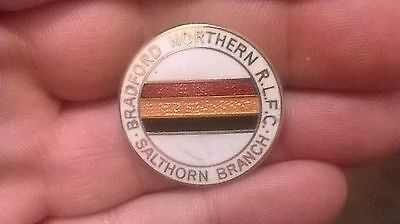 Bradford Northern Rlfc Salthorn Branch Rugby League Pin Badge