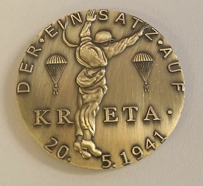 WW1 WWI German Paratrooper coin medallion Kreta Crete