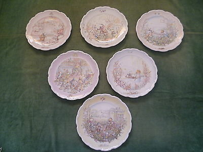 Royal Doulton Collector plates - Wind In The Willows x6 (Set of 4 and 2)
