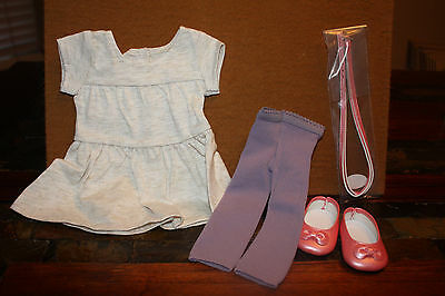 American Girl Doll Tunic Tee Outfit Ballet Flats Leggings NEW! NIP