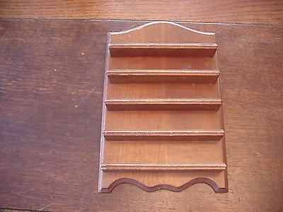 Wooden Thimble Display Shelf, Holds 25 thimbles, thimbles NOT included, 7 1/2x11