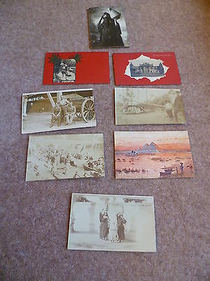 Egyptian Posting (1915/16) - 7 vintage postcards - Real Photographic/ Printed