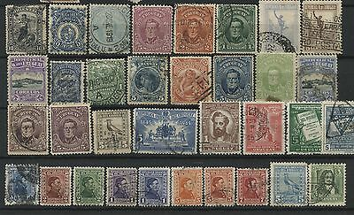 44 Old & Antique Used Stamps Uruguay