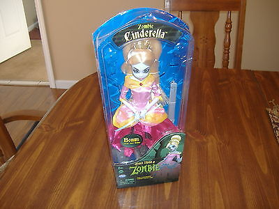 Wowee Once Upon A Zombie Cinderella Doll With Collector Stand-Nib