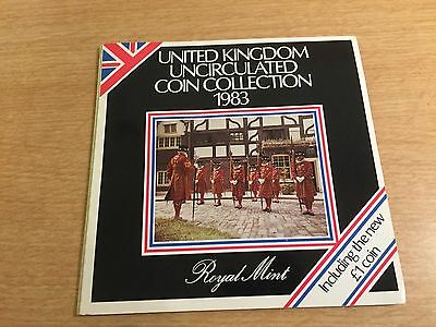 Royal Mint Uncirculated Coin Collection 1983 - Beefeater Cover