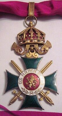 Bulgaria Military Order St. Alexander 3rd class Commander Cross with SWORDS,WWII