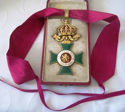 Bulgaria Royal Order St. Alexander 3rd class Commander Cross with case TOP!