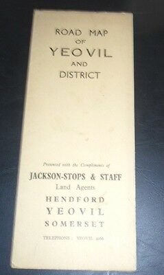 Road Map of  YEOVIL and District,  1950's ?