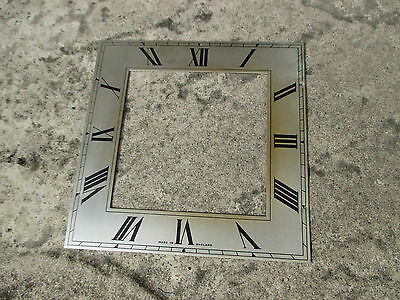 Square Silvered clock chapter ring. 132mm.