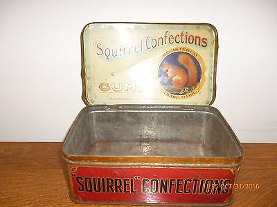 Antique Squirrell Confections Toffee Tin