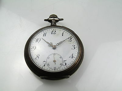 Antique Solid Silver Pocket Watch Marked Fatto