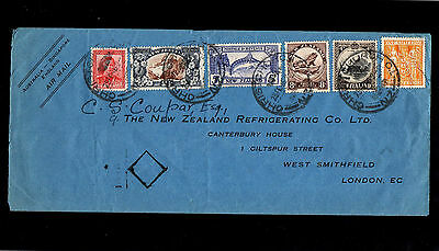 New Zealand 1946 High Cat.£ Value Stamps On Cover With Square & Christchurch Cds