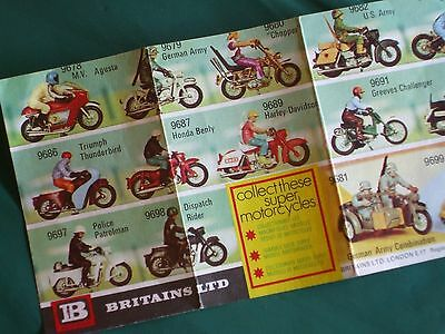 Britains Toys ltd 1973 from the box toy motorcycle speedway drag bike very rare