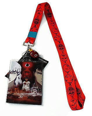 Berserk Behelit Lanyard with ID Badge Holder and PVC Charm New Official Licensed