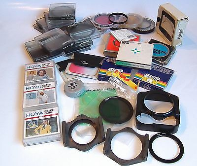 Job Lot Assorted Vintage Photography Camera Filters Cokin Hoya Opteka Clear Out