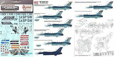 Authentic Decals Nr.48-65 F-16C Fighting Vipers 1/48