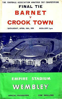 1959 FA AMATEUR CUP FINAL BARNET v CROOK TOWN