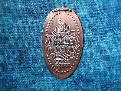 AMERICA'S ROLLER COAST CEDAR POINT Elongated Penny Pressed Smashed 4
