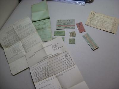job lot collection mixed tickets railway ephemera etc see images