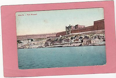 Vintage Card Of  Malta-Fort Ricasoli. Not Posted.